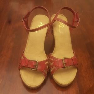 Red A2 by Aerosoles sandal wedge
